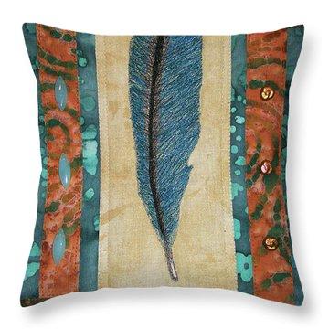 Threaded Feather Throw Pillow