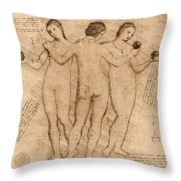Three Graces - II Throw Pillow