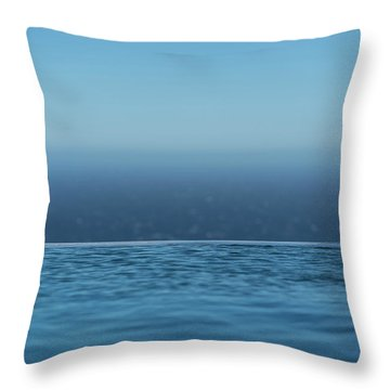Three Layers Of Blue Throw Pillow