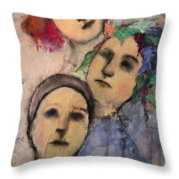 Threes Throw Pillow