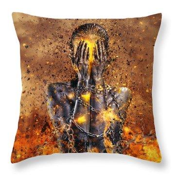 Through Ashes Rise Throw Pillow