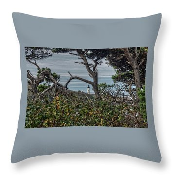 Throw Pillow featuring the photograph Through The Foliage by Thom Zehrfeld