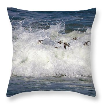Throw Pillow featuring the photograph Through The Waves by Lora J Wilson