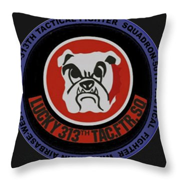 The 313th Tactical Fighter Squadron Throw Pillow