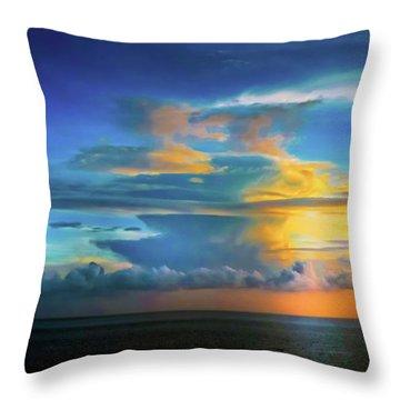 Thunder At Sun Set Throw Pillow