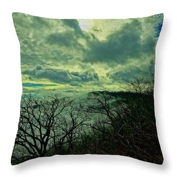 Thunder Mountain Clouds Throw Pillow