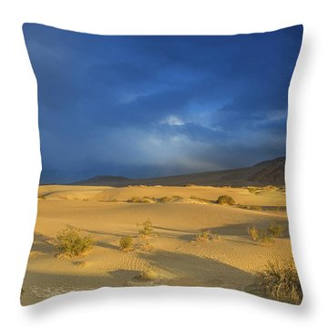 Thunder Over The Desert Throw Pillow