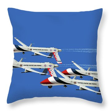 Thunderbird Drones Throw Pillow