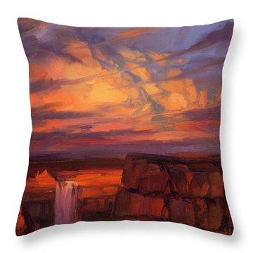 Thundercloud Over The Palouse Throw Pillow