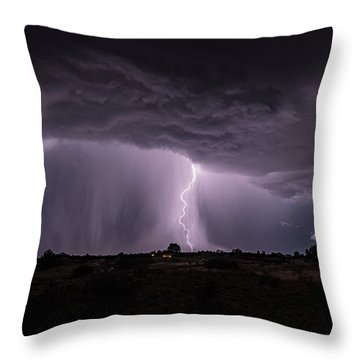 Thunderstorm #4 Throw Pillow