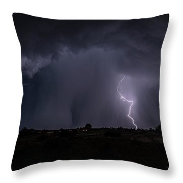 Thunderstorm #5 Throw Pillow