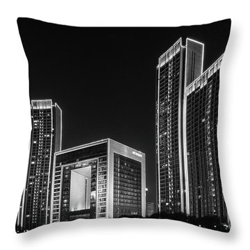Tianjin Skyline Throw Pillow