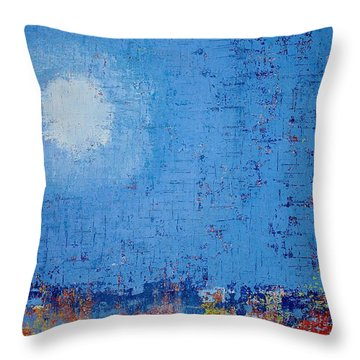 Tidepool Original Painting Sold Throw Pillow