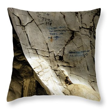 Tien Ong Cave - Halong Bay, Vietnam Throw Pillow