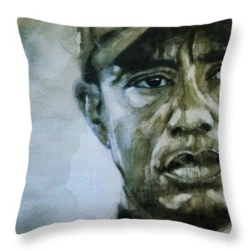 Tiger Woods - On The Road Again  Throw Pillow