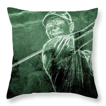 Tiger's On The Green Throw Pillow