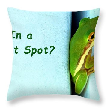 Tight Spot Throw Pillow