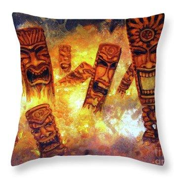 Tiki Hot Spot Throw Pillow