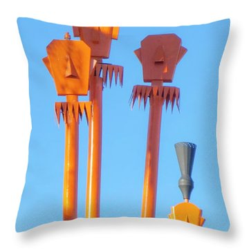 Tiki Palm Springs Throw Pillow