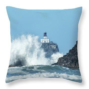Tillamook Rock Light House, Oregon - Terrible Tilly Throw Pillow