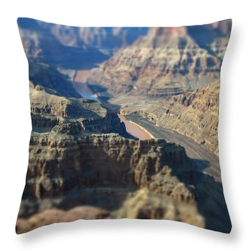 Tiltshifted Grand Canyon Throw Pillow
