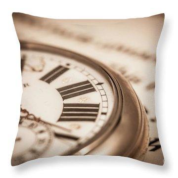 Time And Words Throw Pillow