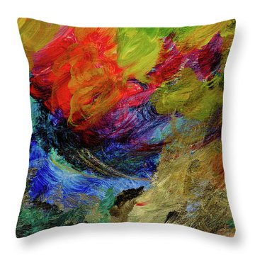 Time Changes Throw Pillow