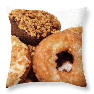 Throw Pillow featuring the photograph Time To Eat The Donuts by Andee Design