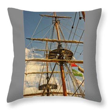 Time To Set Sail Throw Pillow