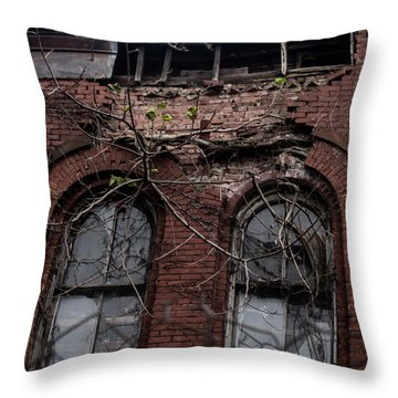 Time's Cathedral Throw Pillow