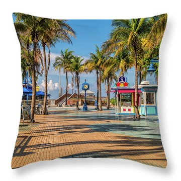 Times Square In Fort Myers Beach Florida Throw Pillow