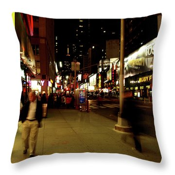 Throw Pillow featuring the photograph Time Square, One by Edward Lee