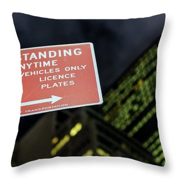 Throw Pillow featuring the photograph Times Square by Steve Stanger