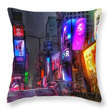 Times Square - The Light Fantastic 2016 Throw Pillow