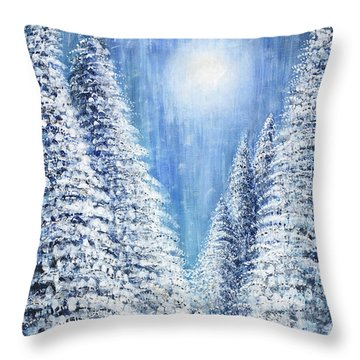 Tim's Winter Forest 2 Throw Pillow