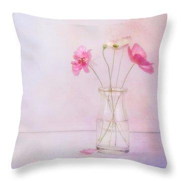 Tiny Poppies Throw Pillow