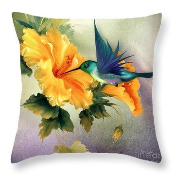 Tiny Wings Throw Pillow