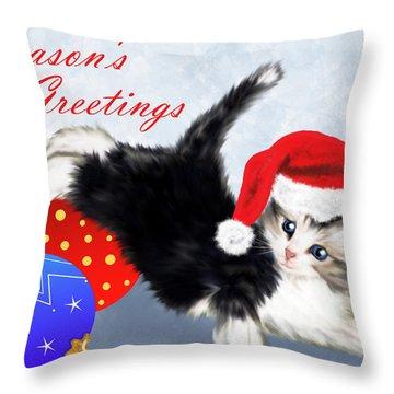 Tis The Season To Be Jolly Fa-la-la-la-la, La-la-la-la  Throw Pillow