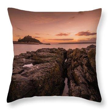 To The Sunset - Marazion Cornwall Throw Pillow