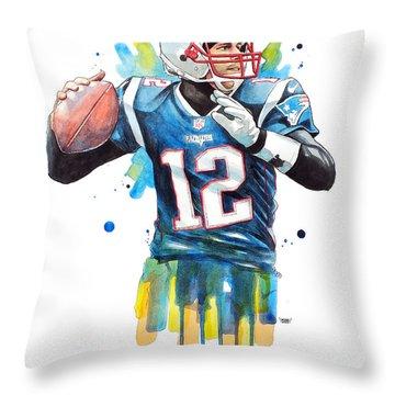 Tom Brady, Patriots, Nfl Throw Pillow