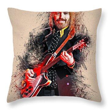 Tom Petty - 35 Throw Pillow