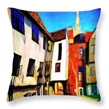 Tombeland Alley Throw Pillow