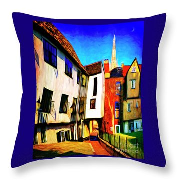 Tombeland Alley Throw Pillow