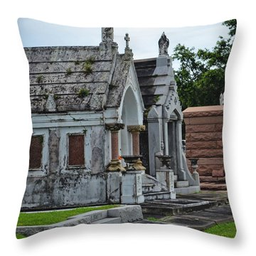 Tombs And Graves Throw Pillow