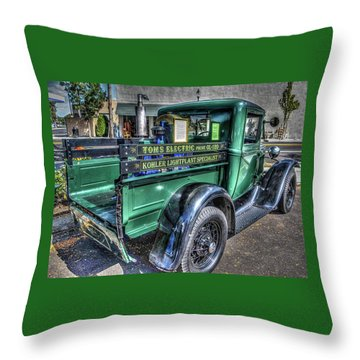 Tom's Electric Truck Throw Pillow