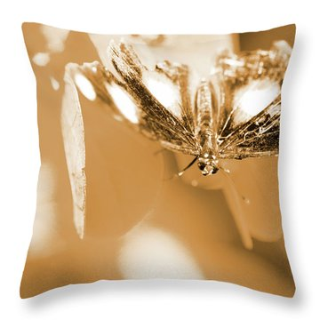 Toned Tropics Throw Pillow