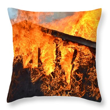 Throw Pillow featuring the photograph Too Hot by Carl Young