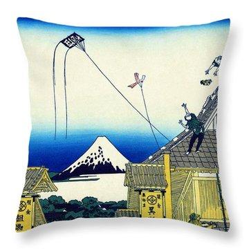 Top Quality Art -mt,fuji36view-mitsui Shopping Street Throw Pillow