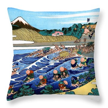 Hokusai Wave Throw Pillows