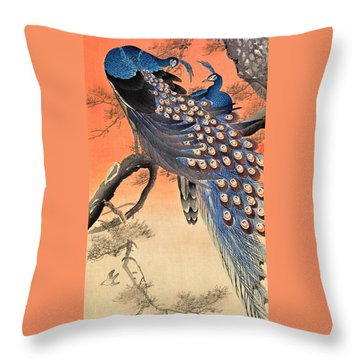 Top Quality Art - Two Peacock Throw Pillow
